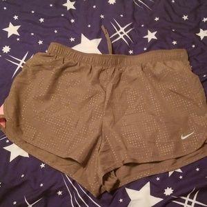 Nwt Nike Grey and pink dri fit Shorts